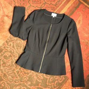 Hinge Black Peplum Zip Blazer